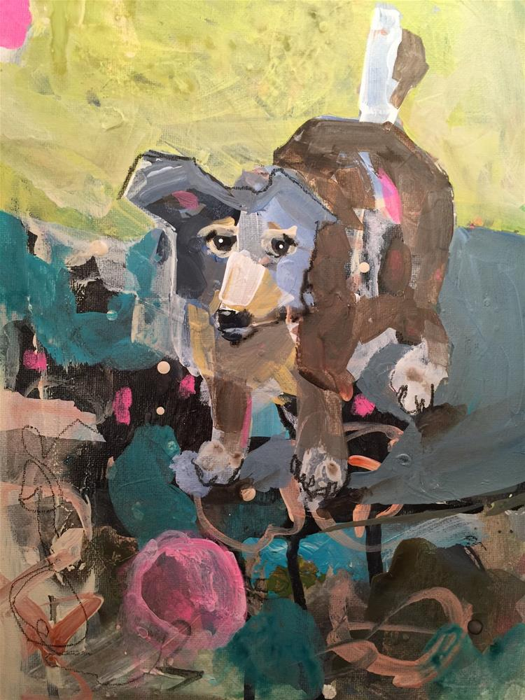 """157 Gypsy Dog"" original fine art by Jenny Doh"