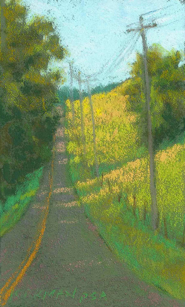 Road Sketch 25 original fine art by Rita Kirkman
