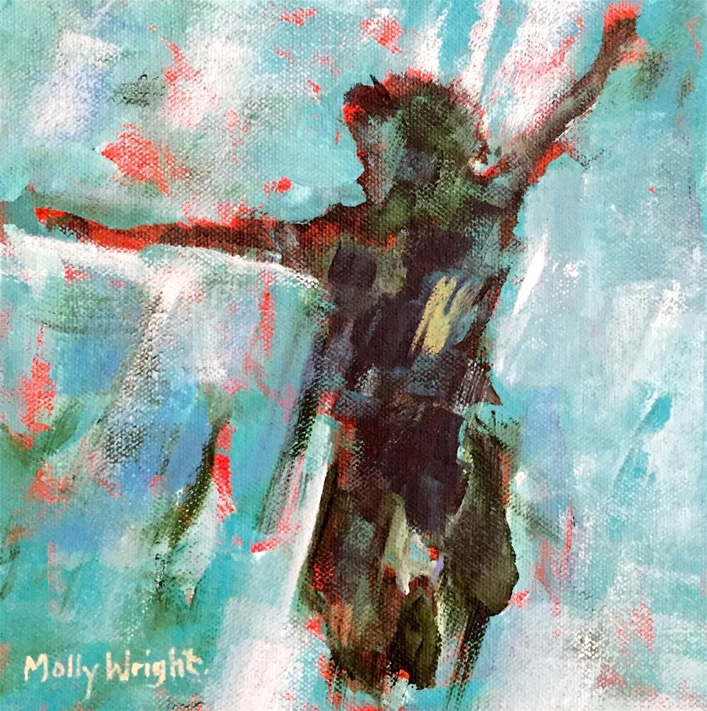 """Joy Jumper"" original fine art by Molly Wright"