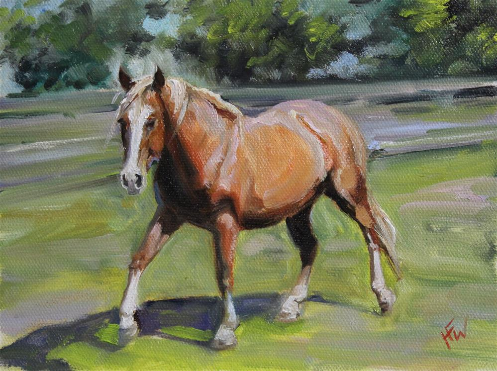 """Haflinger"" original fine art by H.F. Wallen"