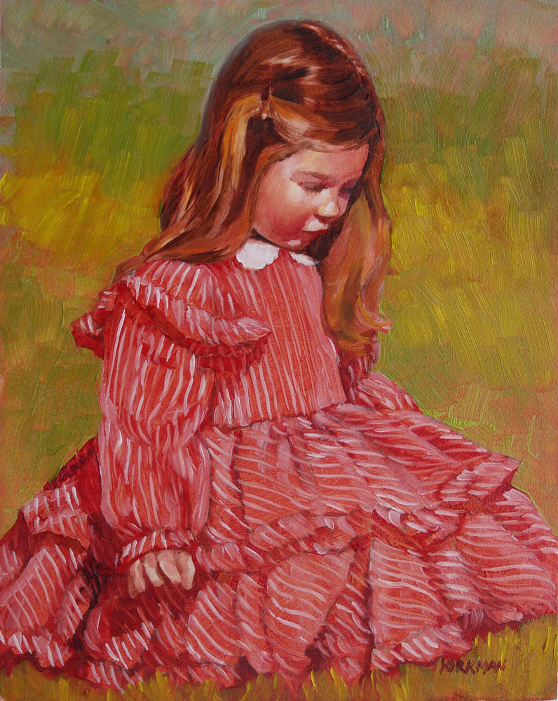 """First Oil Portrait Commission"" original fine art by Rita Kirkman"