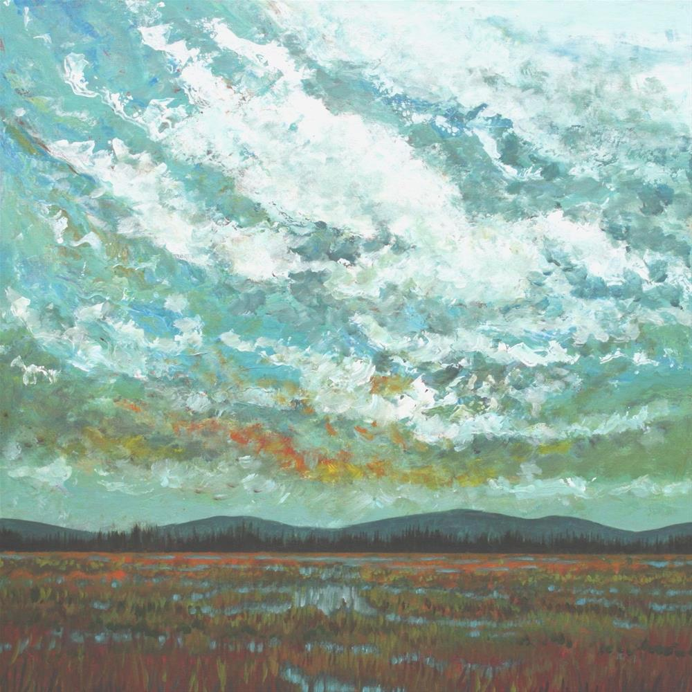 """High Tidal Marsh"" original fine art by Sage Mountain"