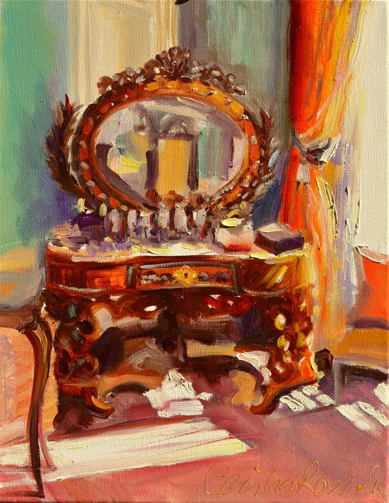 """FRENCH VANITY"" original fine art by Cecilia Rosslee"