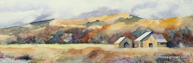 """""""Open Range II"""" original fine art by Norm Rossignol"""