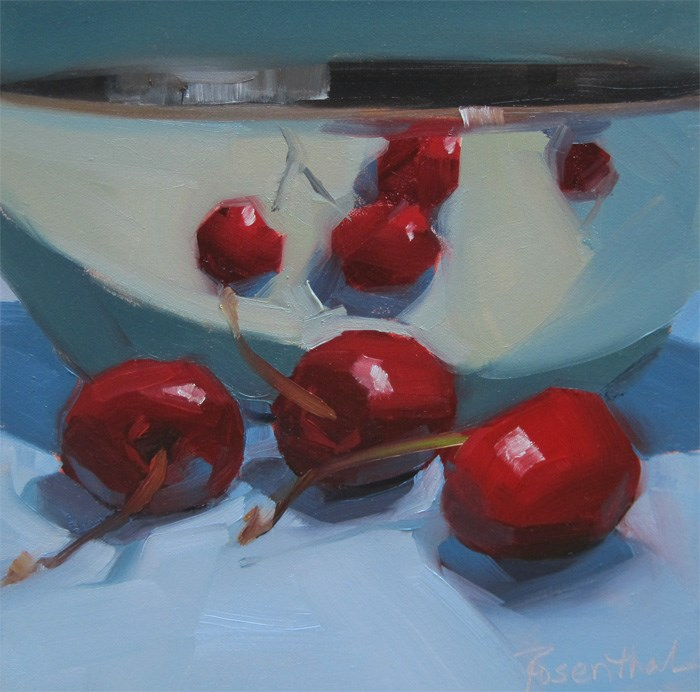 """Reflected Cherries"" original fine art by Robin Rosenthal"