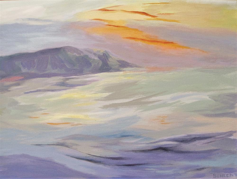 """""""Sea Swell"""" original fine art by Priscilla Bohlen"""
