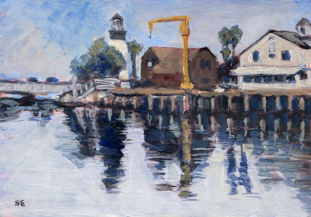 """Harbor Village"" original fine art by Stanley Epperson"