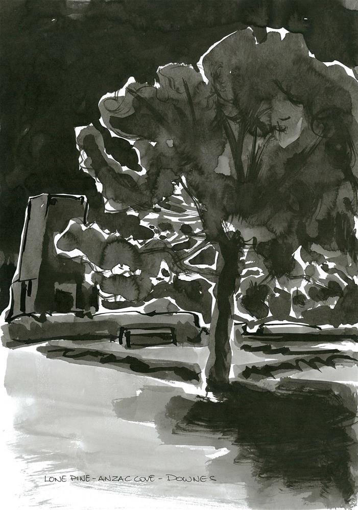 """304 LONE PINE ANZAC MEMORIAL 1"" original fine art by Trevor Downes"