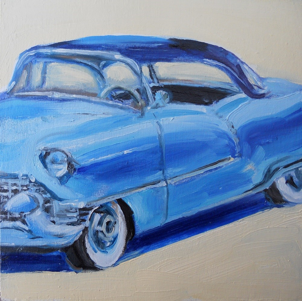 """'55 Cadillac"" original fine art by Susan Baker"