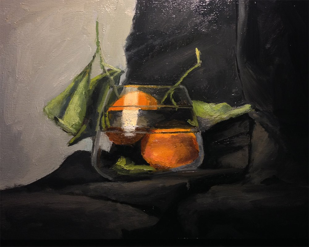 """Satsumas in Glass 2"" original fine art by Chris Beaven"