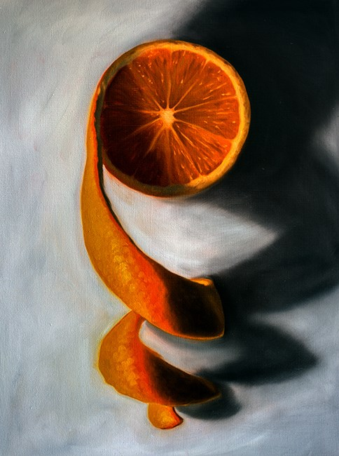 """Orange Twist"" original fine art by Lauren Pretorius"