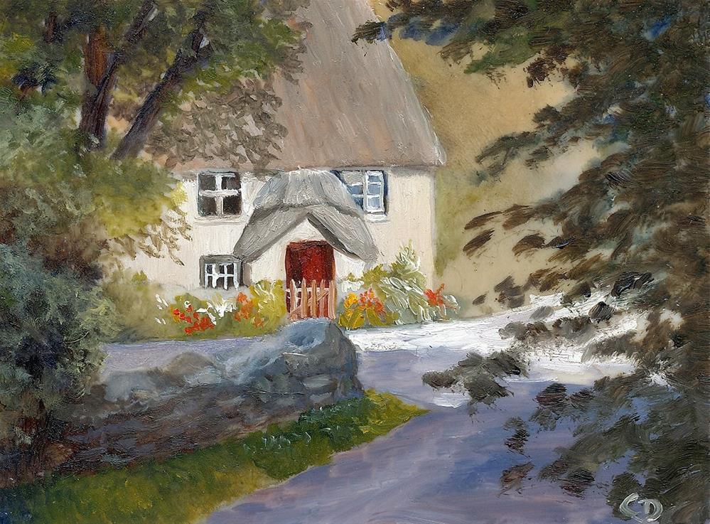 """""""Devon Cottage"""" original fine art by Christine Derrick"""