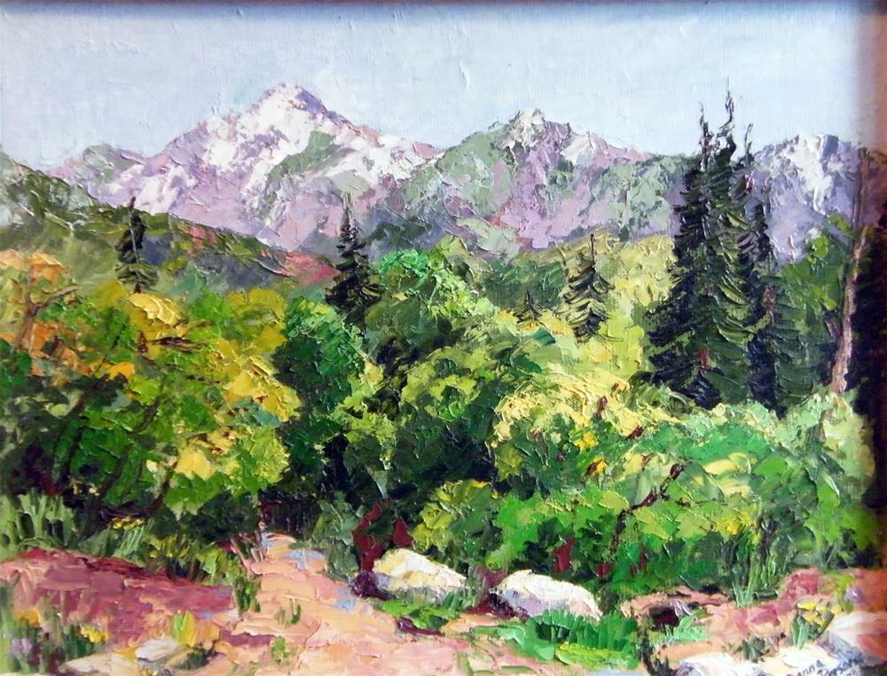 """Mountain path"" original fine art by Donna Whatcott Parsons"