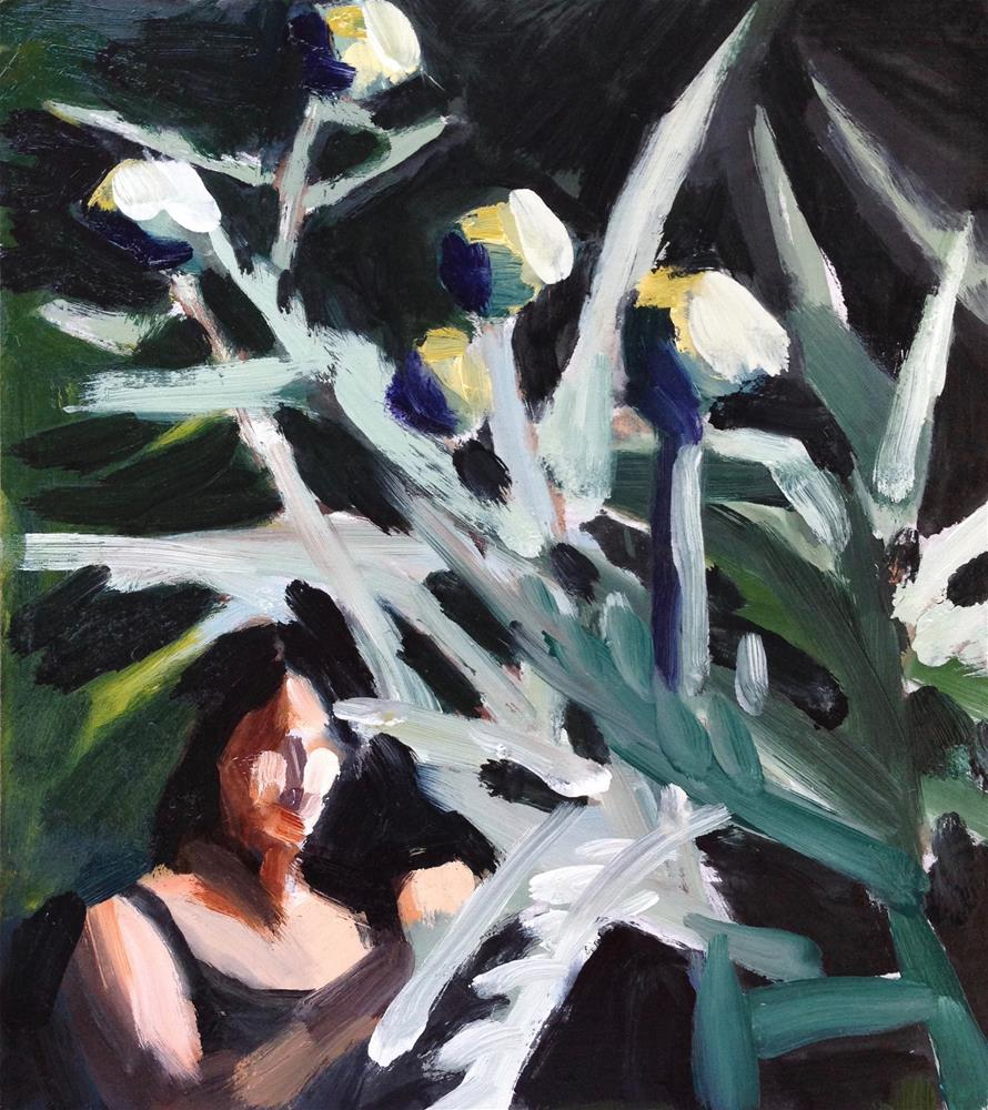 """Ann and Her Artichokes"" original fine art by Pamela Hoffmeister"