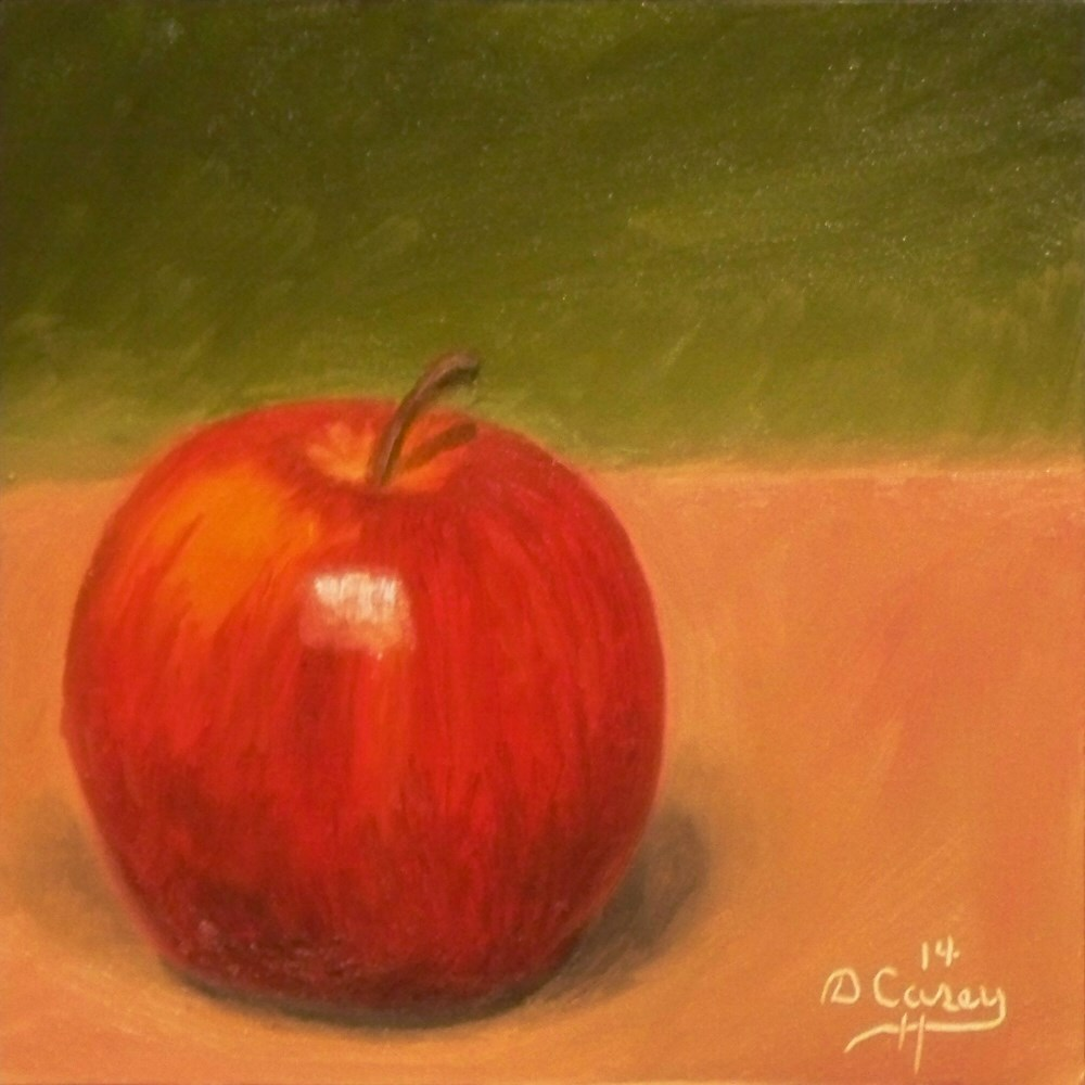 """Day 16 - 30 in 30 Challenge - Solo Apple 02"" original fine art by Dave Casey"