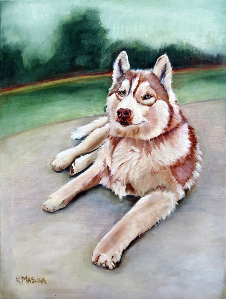 """Loki"" original fine art by Kulli Maslova"