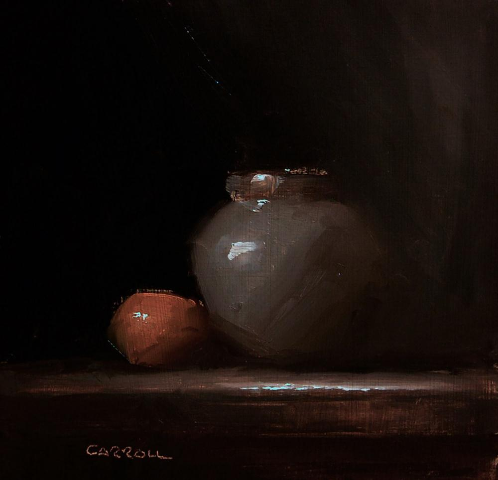 """Grey Pot"" original fine art by Neil Carroll"