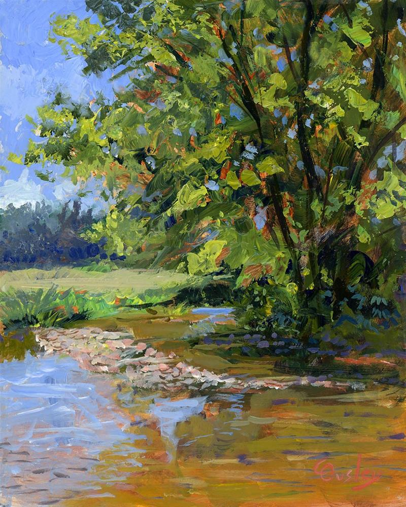 """Cool Stream"" original fine art by Chris Ousley"