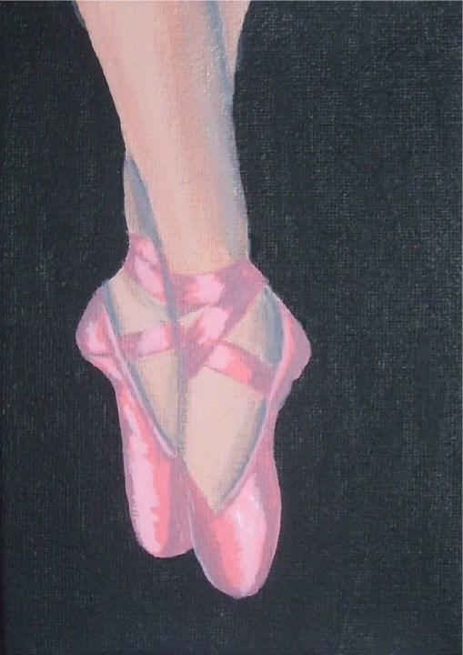 """Dancing Shoes"" original fine art by Amy VanGaasbeck"