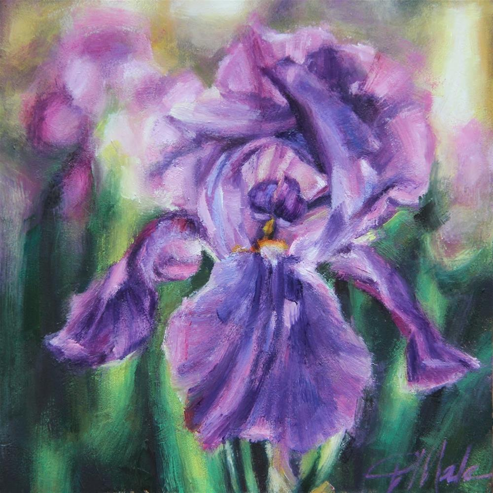 """Iris Garden"" original fine art by Tracy Male"