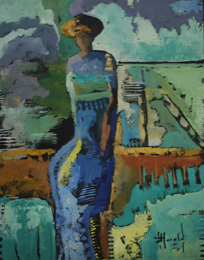 """On The Fence"" original fine art by Deborah Harold"