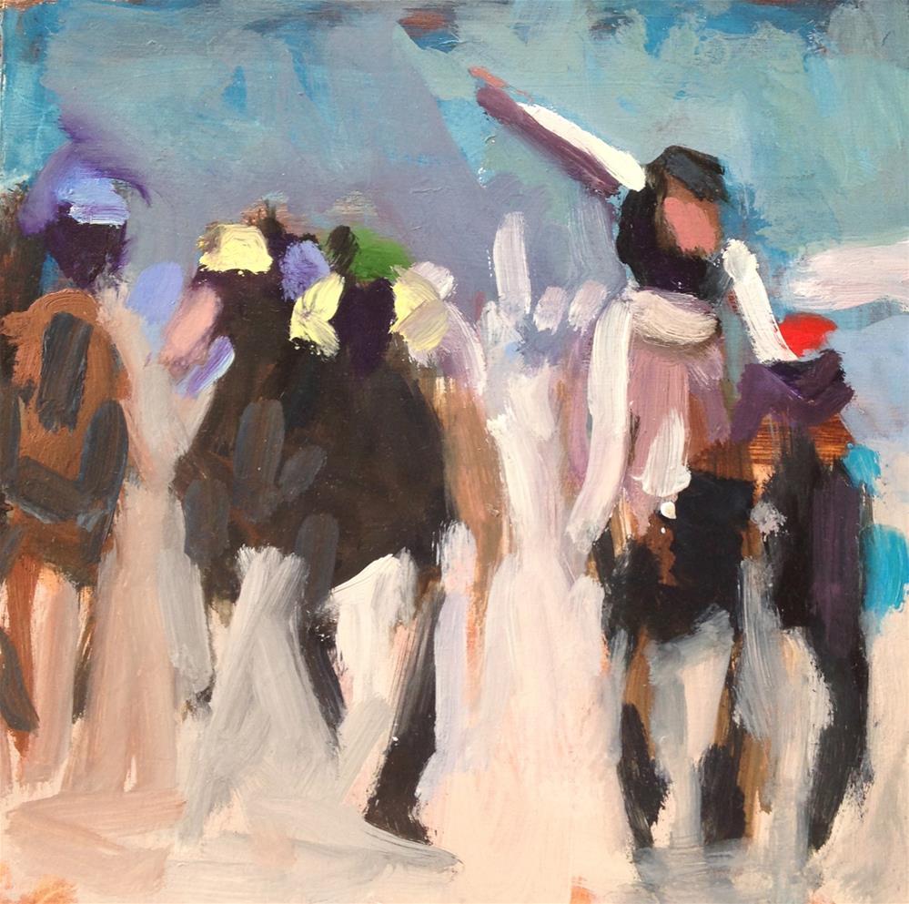 """Kentucky Derby I"" original fine art by Pamela Hoffmeister"