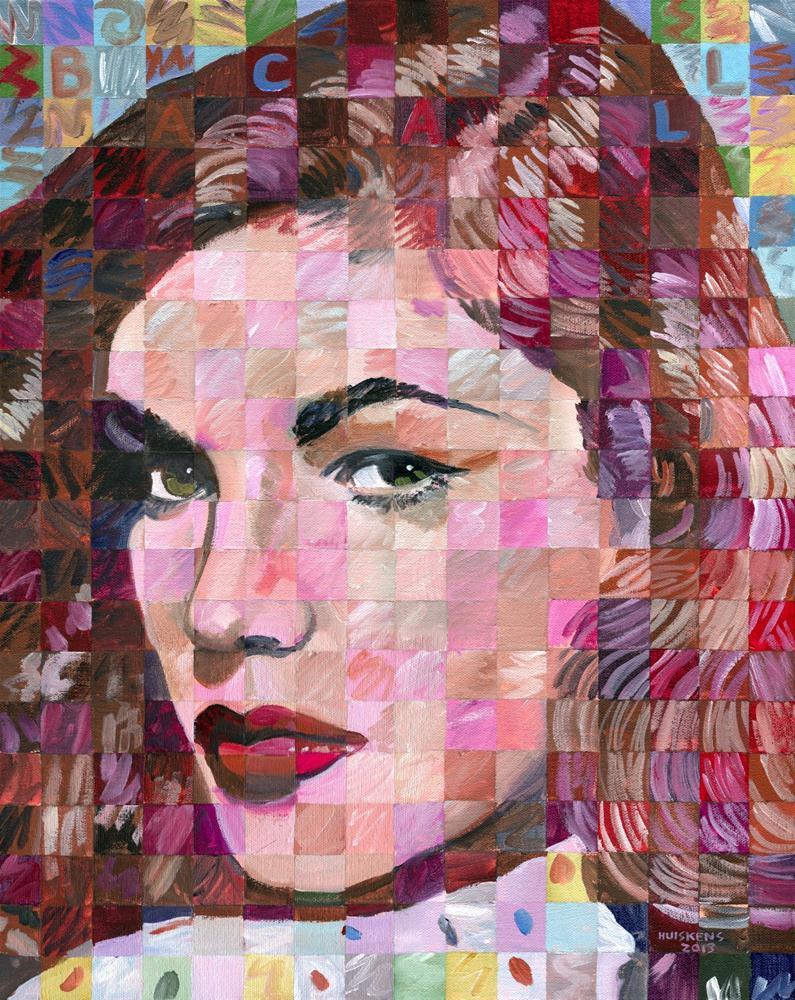 """Lauren Bacall"" original fine art by Randal Huiskens"