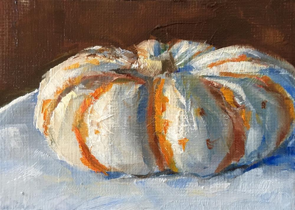 """Mini-Tiger Pumpkin"" original fine art by Gary Bruton"