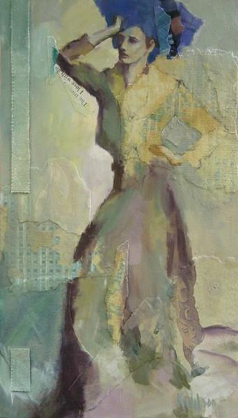 """Blue Hair and Gown"" original fine art by Katie Wilson"