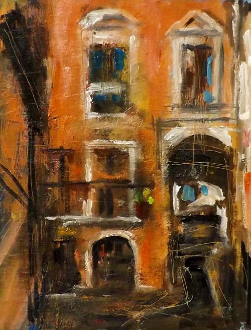 """Cityscape,M28"" original fine art by Run-      Zhang Zane"