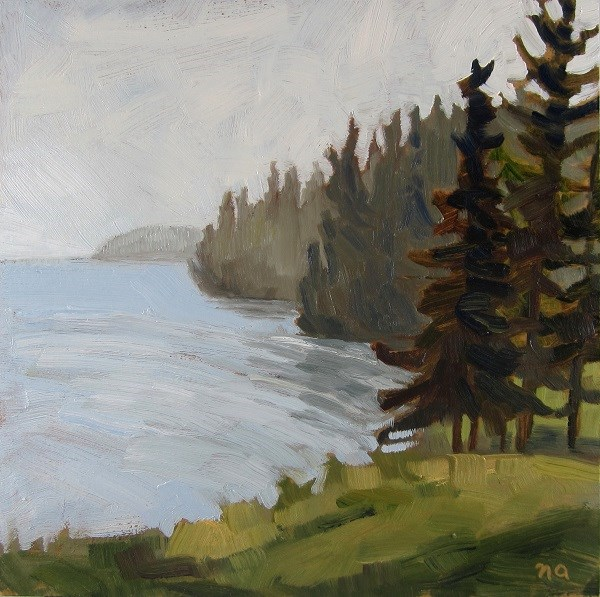 """Misty at Point View"" original fine art by Nicki Ault"