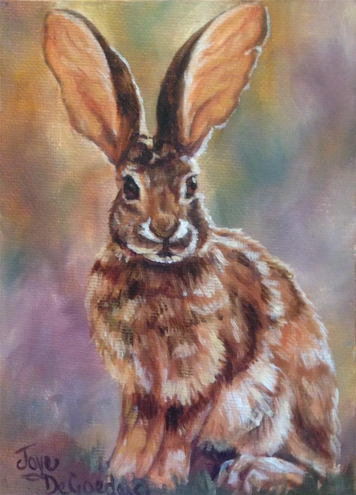 """Did Some Bunny Say Carrots? (C) by Joye DeGoede"" original fine art by Joye DeGoede"
