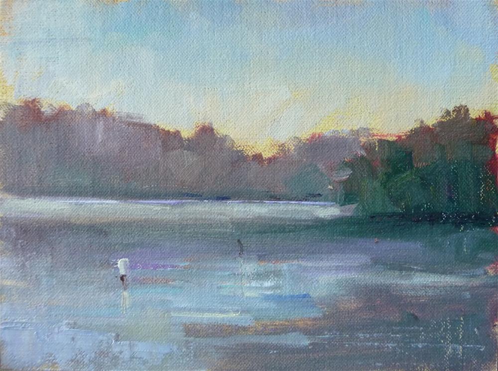 """Hope Springs Marina"" original fine art by Carol Josefiak"