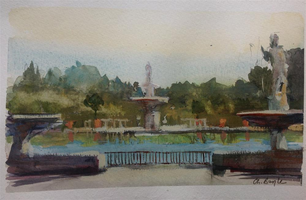 """Boboli gardens"" original fine art by Christine Bayle"