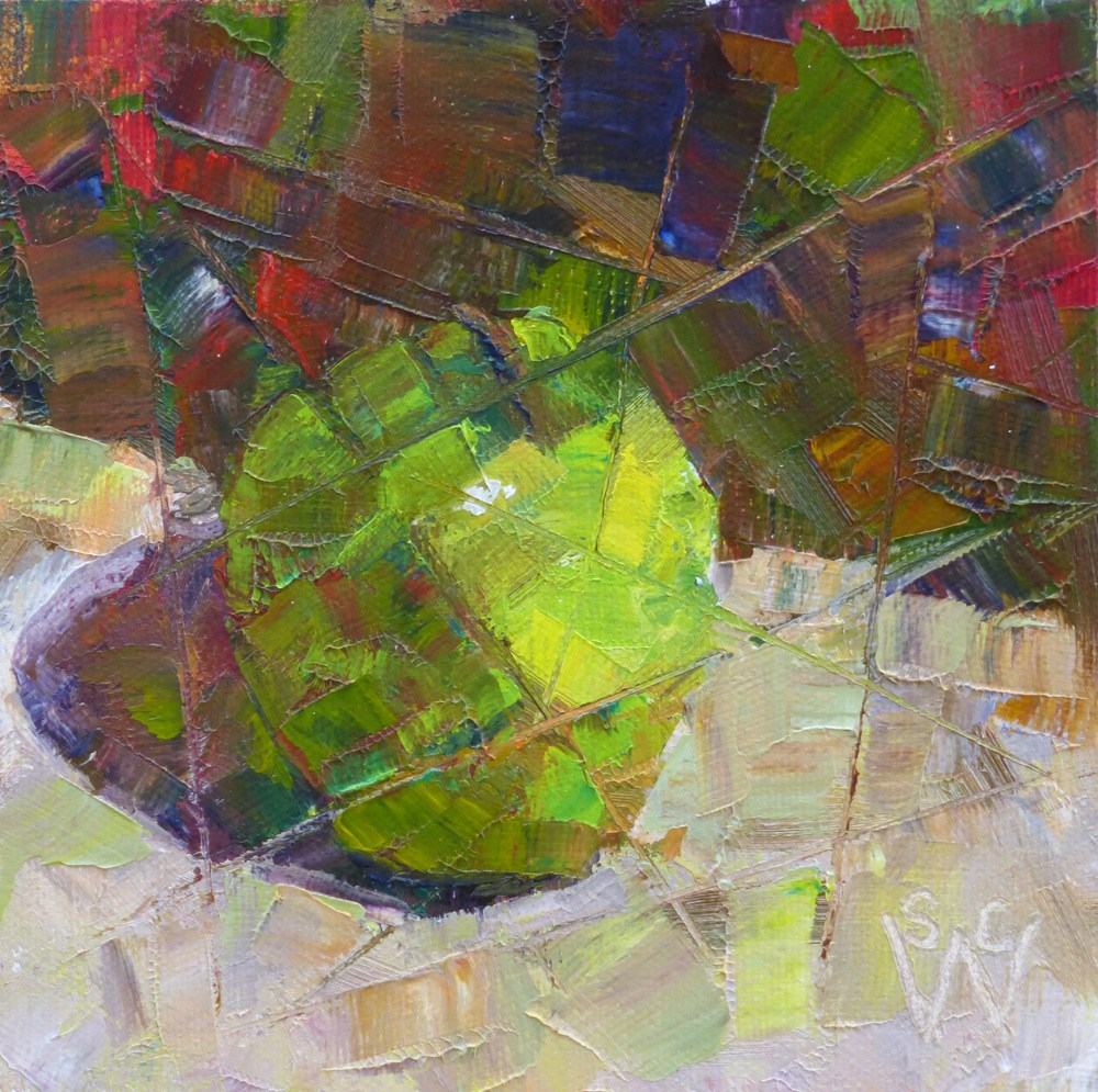 """Fractured Granny Smith"" original fine art by Susan Woodward"