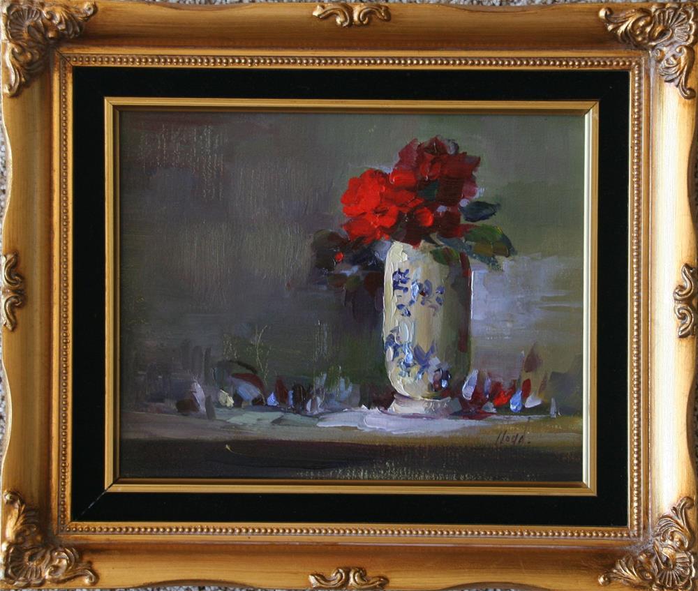 """Red"" original fine art by Diane Lloyd"