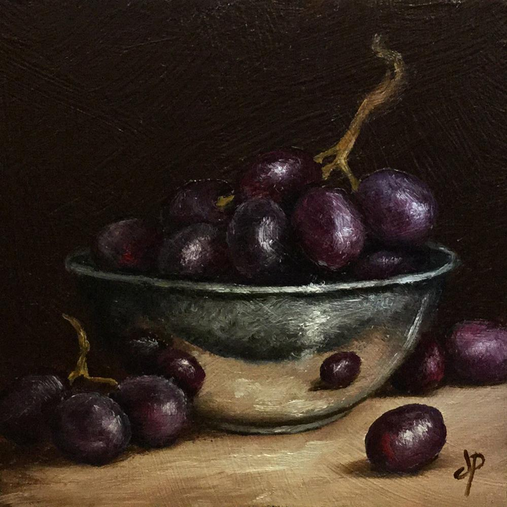 """Grapes in Silver"" original fine art by Jane Palmer"