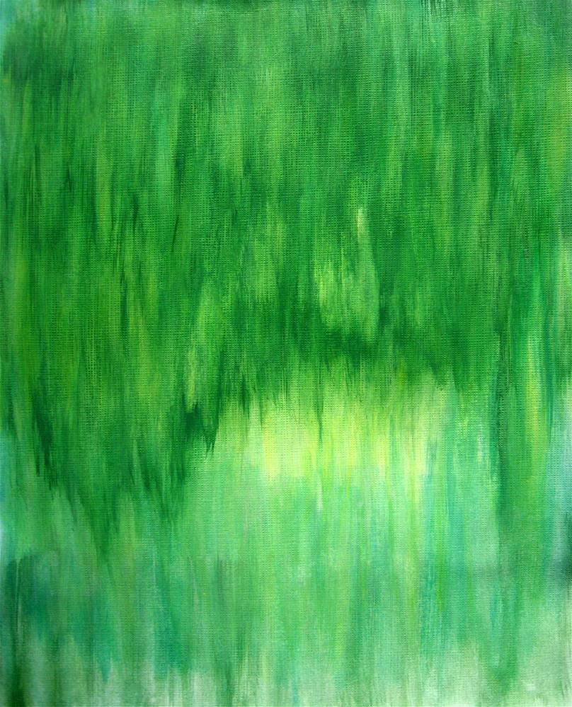 """Spring Summer Green"" original fine art by Alina Frent"