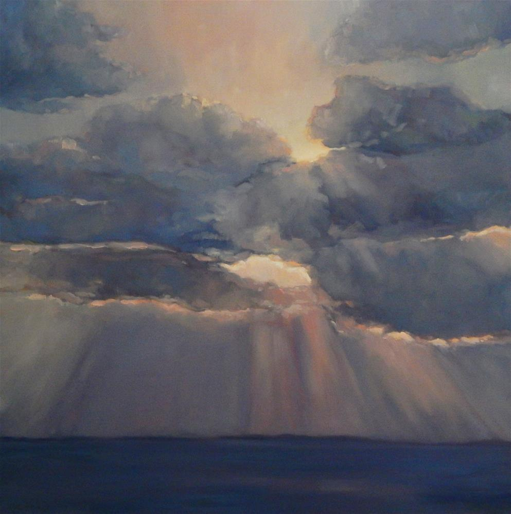 """""""Dawn on the Water"""" original fine art by Lisa Kyle"""
