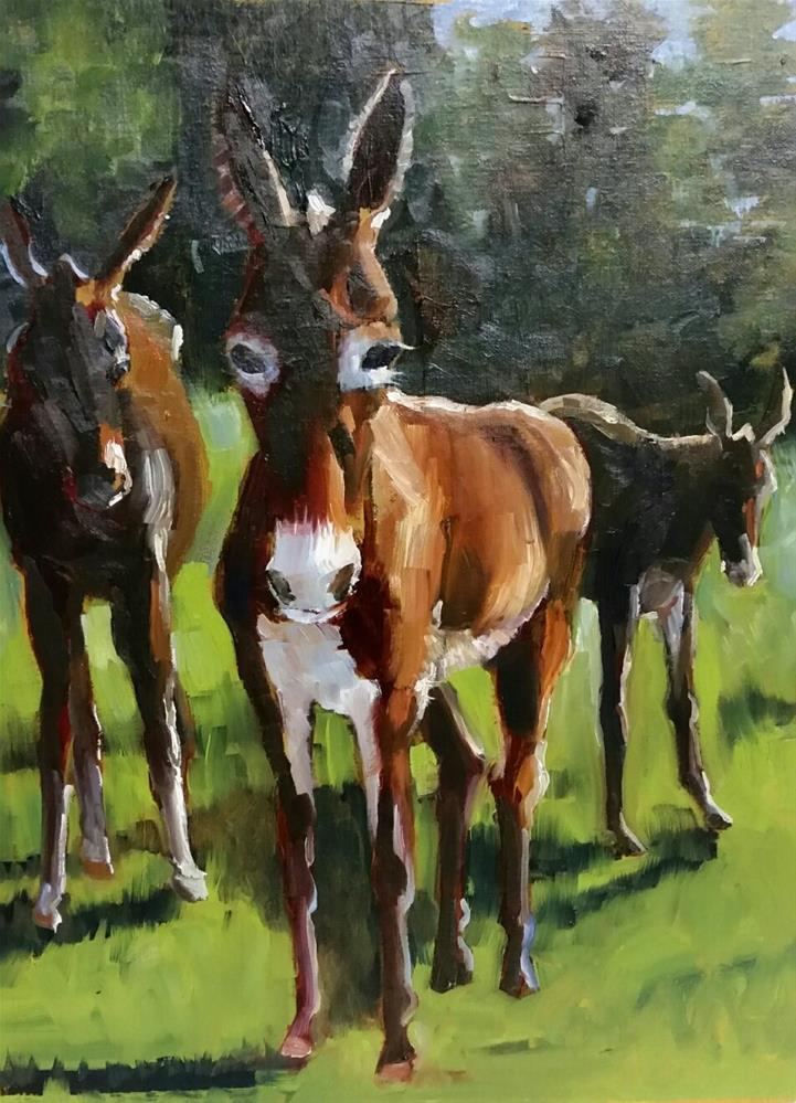 """""""The Girls, Out and About"""" original fine art by Nan Perry"""