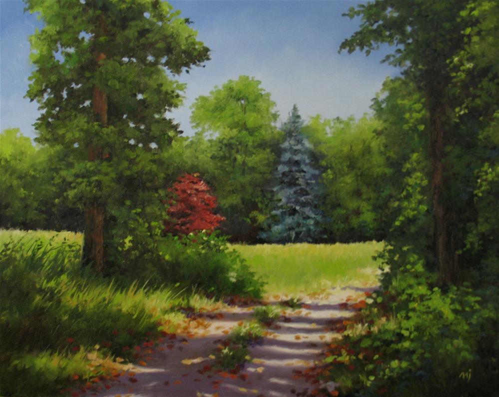 """""""To the Meadow"""" original fine art by Nel Jansen"""