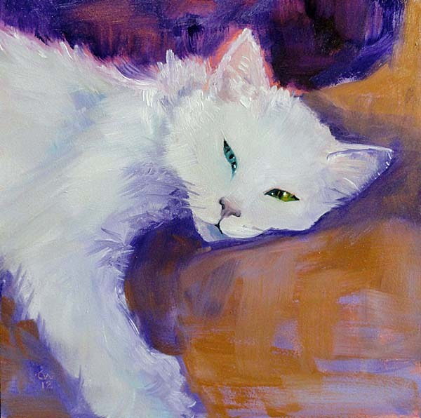 """Odd-Eyed White"" original fine art by Cietha Wilson"