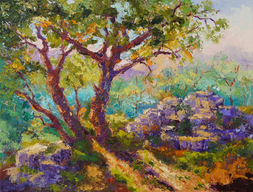 """Last Sunlight"" original fine art by Marion Hedger"