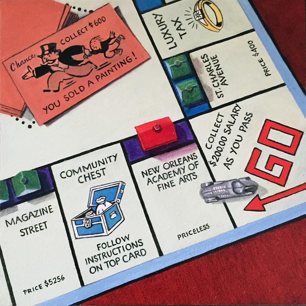 """NOLA Monopoly #1"" original fine art by Patti Adams"