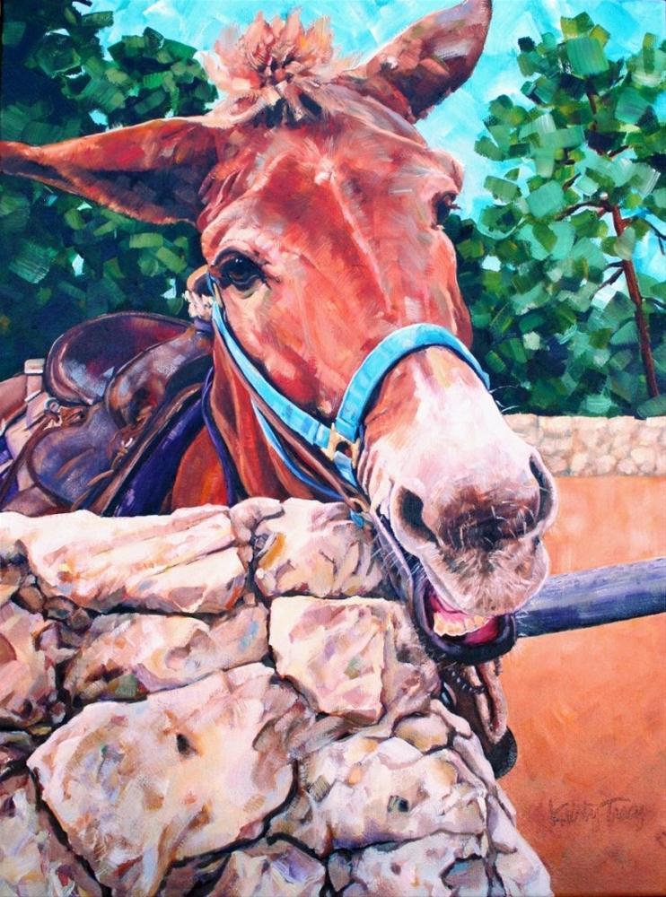 """""""MULEHEADED"""" original fine art by Kristy Tracy"""