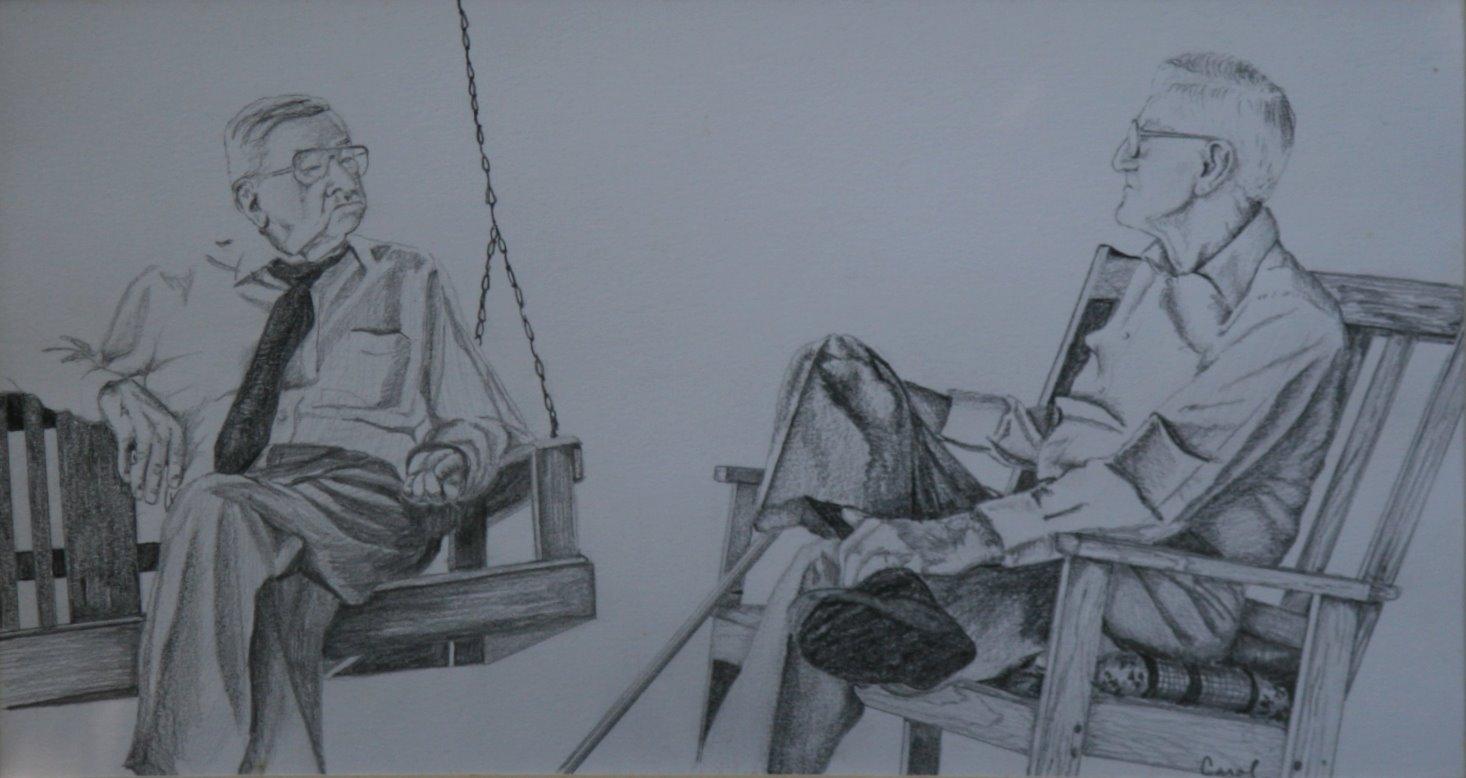 """the good old days"" original fine art by Carol Carmichael"