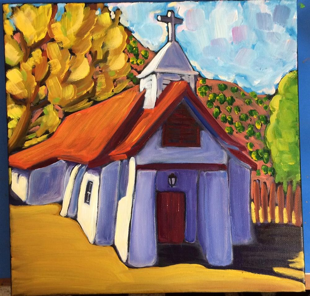 """Church in Pilar New Mexico"" original fine art by Robyn Wellman"