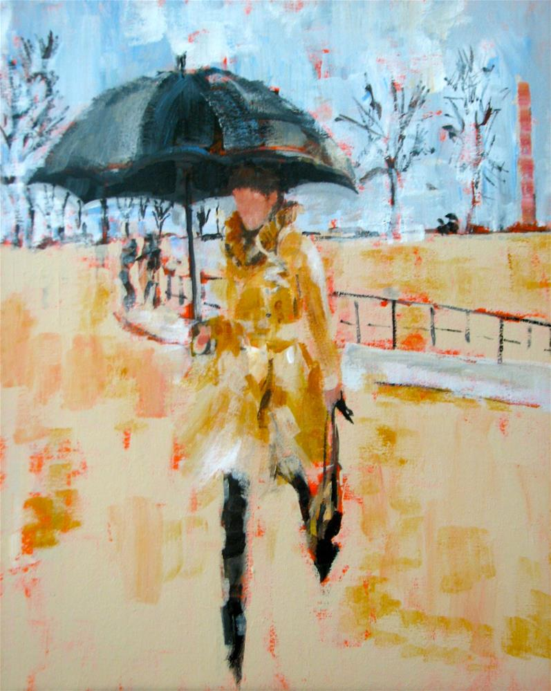 """Racing The Rain"" original fine art by Molly Wright"