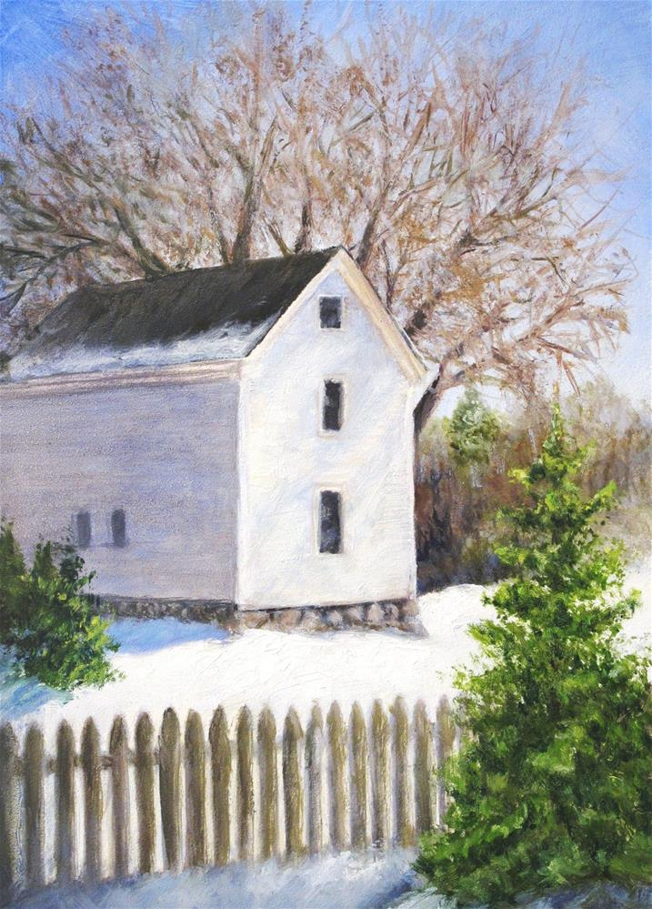 """Winter"" original fine art by Linda Demers"
