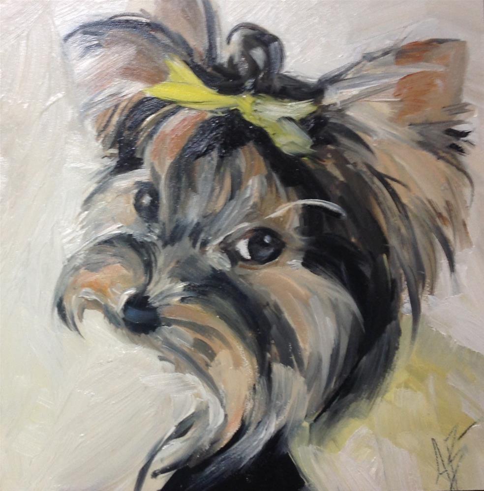 """""""Sweet furbaby"""" original fine art by Annette Balesteri"""